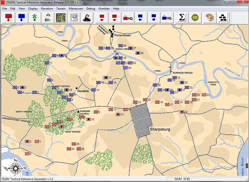 an object has been loaded into tiger for analysis in this case a snapshot of the battle of antietam at 1630 hours on september 17 1863