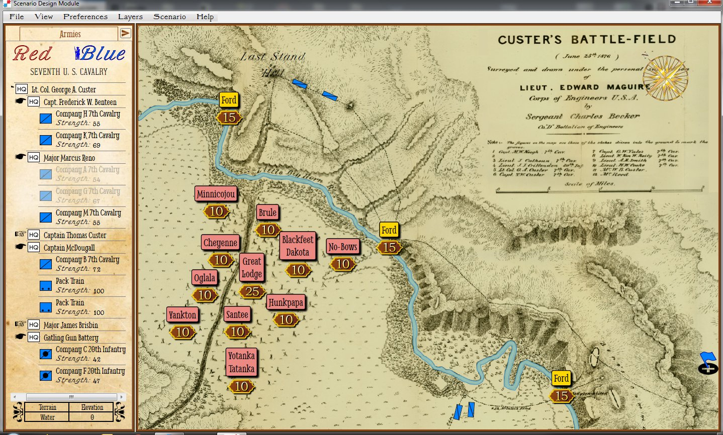THE BATTLE OF THE LITTLE BIG HORN | Board Game by ...